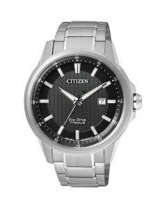 Citizen Gents Silver Titanium Eco-Drive Date Watch AW1490-84E