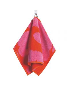Unikko towel set- Pink & Red