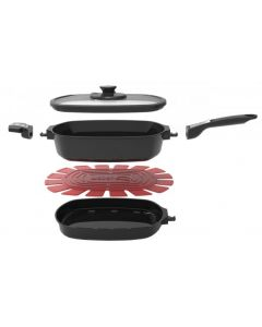 Weber Large Q Ware Casserole/Frying Pan Pack - Black