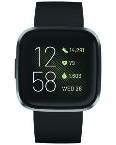 Fitbit Versa 2 Fitness Watch - Black/Carbon