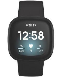 Fitbit Versa 3 Advanced Fitness Watch - Black/Black