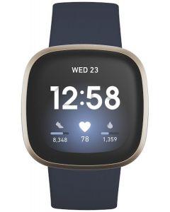 Fitbit Versa 3 Advanced Fitness Watch - Midnight/Soft Gold