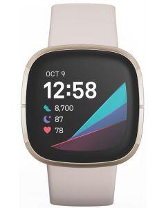 Fitbit Sense Advanced Health Watch - Lunar White/Soft Gold