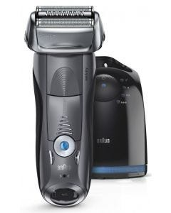 Braun - Series 7 7865cc Wet & Dry Electric Shaver and Clean&Charge System - Grey