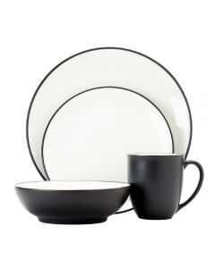 Noritake Colorwave Graphite 16pc Dinner Setting for 4