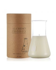 Alchemy Produx Clear Series 230g Conical Flask Candle - Seagrass & Vetiver