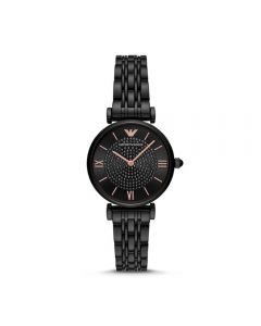 Emporio Armani Gianni T-Bar Black Analogue Watch