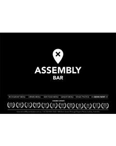 ACT Braddon, Assembly Bar $100 Gift Card