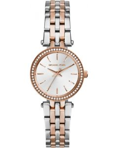 Michael Kors Petite Darci Two-Tone Silver/Rose Gold Stainless Steel Bracelet Watch