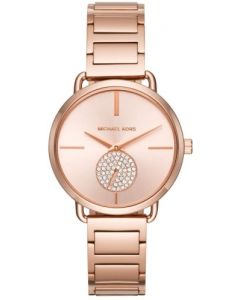 Michael Kors Ladies Rose Gold Portia Stainless Steel Watch