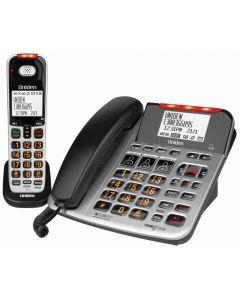 Uniden SSE47+1 Sight & Sound Enhanced Phone System - Silver