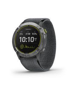 Garmin Enduro - Ultraperformance GPS Multisport Watch Steel with Gray UltraFit nylon strap 010-02408-00
