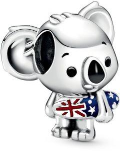 Pandora Australian Koala Silver Charm w Mixed Enamel Silver - 799031C01