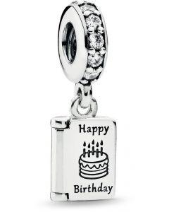 Pandora Birthday Wishes Silver Hanging Charm Silver - 791723CZ