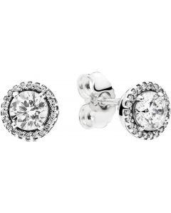 Pandora Classic Elegance Silver Earring Studs w Clear CZ Silver - 296272CZ