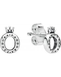 Pandora Polished Crown O Silver Studs Silver - 298295