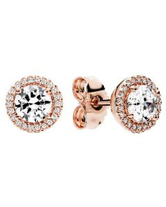 Pandora Rose Classic Elegance Earring Studs w Clear CZ Rose - 286272CZ