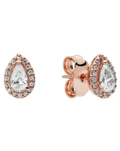 Pandora Rose Radiant Teardrops Earring Studs with Clear CZ Rose - 286252CZ