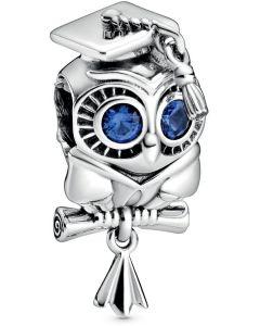 Pandora Wise Owl Graduation Charm Silver - 798907C01