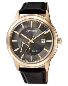 Citizen Gents Gold Stainless Steel Eco-Drive Date Watch AW7013-05H