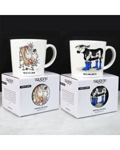 Squidinki Set of 2 Porcelain Mugs: Beef Wellington & Rack of Lamb