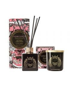 MOR Emporium Classics Lychee Flower Fragrant Candle 380g and Reed Diffuser 180ml Set