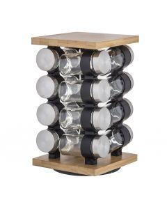 Davis & Waddell Romano Spice Jar Set with Rack 16 Piece