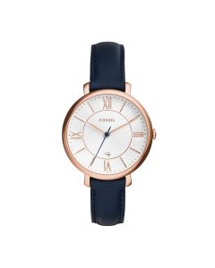 Fossil Ladies Jacqueline Three Hand Leather Strap Watch