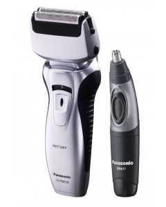 Panasonic - Twin Blade Electric Shaver and Nose Trimmer - Silver
