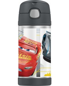 Thermos 355ml FUNtainer Stainless Steel Vacuum Insulated Drink Bottle - Disney Cars 3
