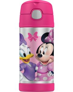 Thermos 355ml FUNtainer Stainless Steel Vacuum Insulated Drink Bottle - Disney Minnie Mouse