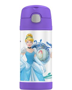 Thermos 355ml FUNtainer Stainless Steel Vacuum Insulated Drink Bottle - Disney Princess