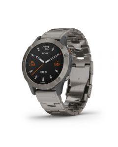 Garmin Fenix 6 Sapphire - Titanium Grey With Titanium Bracelet