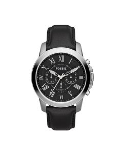 Fossil Mens Classic Grant Leather Strap chronograph
