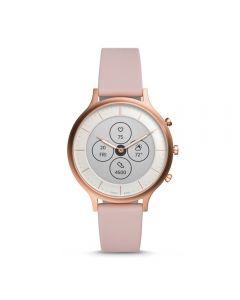 Fossil Charter Hybrid HR Blush Silicone Smartwatch