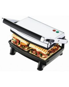 Sunbeam - Compact Cafe Electric Grill & Sandwich Press - S/S