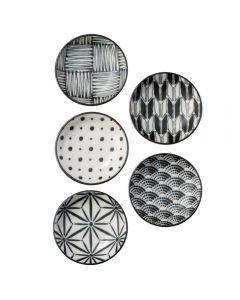 Noritake Komon 9cm Dipping Plate Set of 5