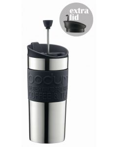 Bodum Coffee maker with extra lid vacuum small 0.35 l 12 oz s/s