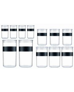 Bodum Presso Storage Jar Set of 12 4 x 0 25 / 3 x 0 6 / 3 x 1L / 2 x 2L
