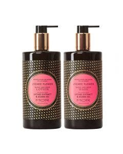 MOR Emporium Classics Lychee Flower Hand & Body Wash 500ml and Hand & Body Lotion 500ml Set