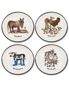 Squidinki Set of 4 Canapé Plates: Moveable Feast