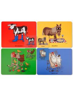 Squidinki Placemats & Coasters Set: Moveable Feast