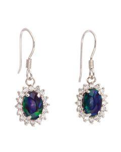 Wellington Jeweller Anna 925 Sterling Silver Triplet Opal Drop Earrings