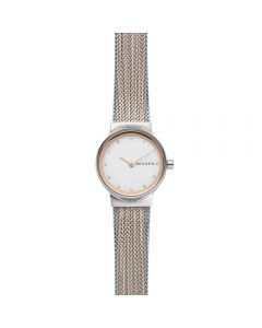 Skagen Freja Ladies Two-Tone Steel-Mesh Watch