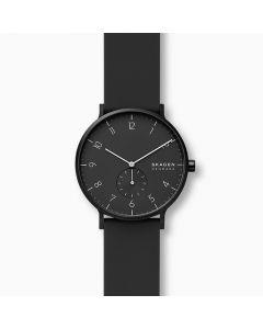 Skagen Aaren Kulor Black Silicone 41mm Watch