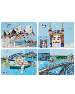 Squidinki Placemats & coasters set: Sydney