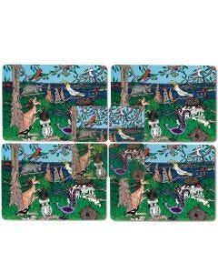 Squidinki Placemats & Coasters Set: Australian Wildlife