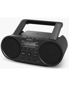 Sony CD Boombox with AM/FM Digital Radio Tuner and USB Playback - Black